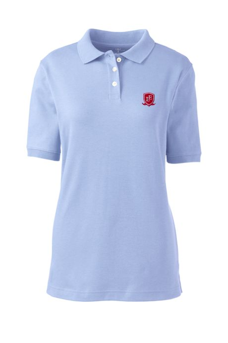 School Uniform Exclusive Women's Tall Short Sleeve Interlock Polo