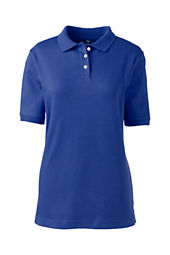 School Uniform Short Sleeve Solid Performance Interlock Polo Shirt