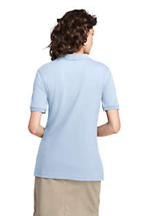 Women's Tall Short Sleeve Interlock Polo Shirt, Back