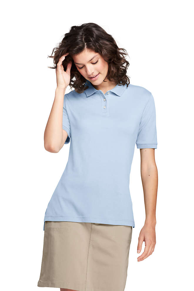 Women's Tall Short Sleeve Interlock Polo Shirt, Front