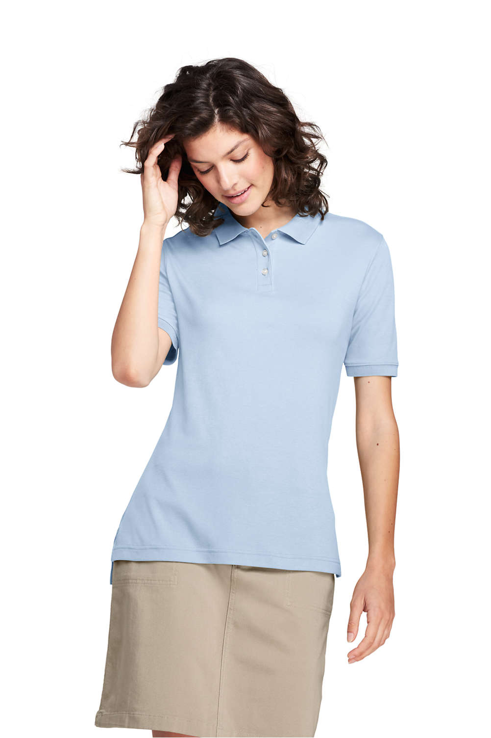 Women s Short Sleeve Performance Interlock Polo Shirt from Lands  End 225ad1fd4