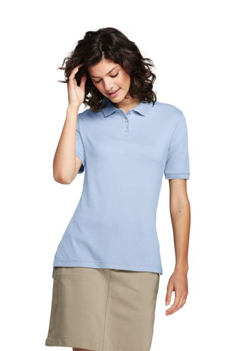 School Uniform Women's Tall Short Sleeve Interlock Polo Shirt
