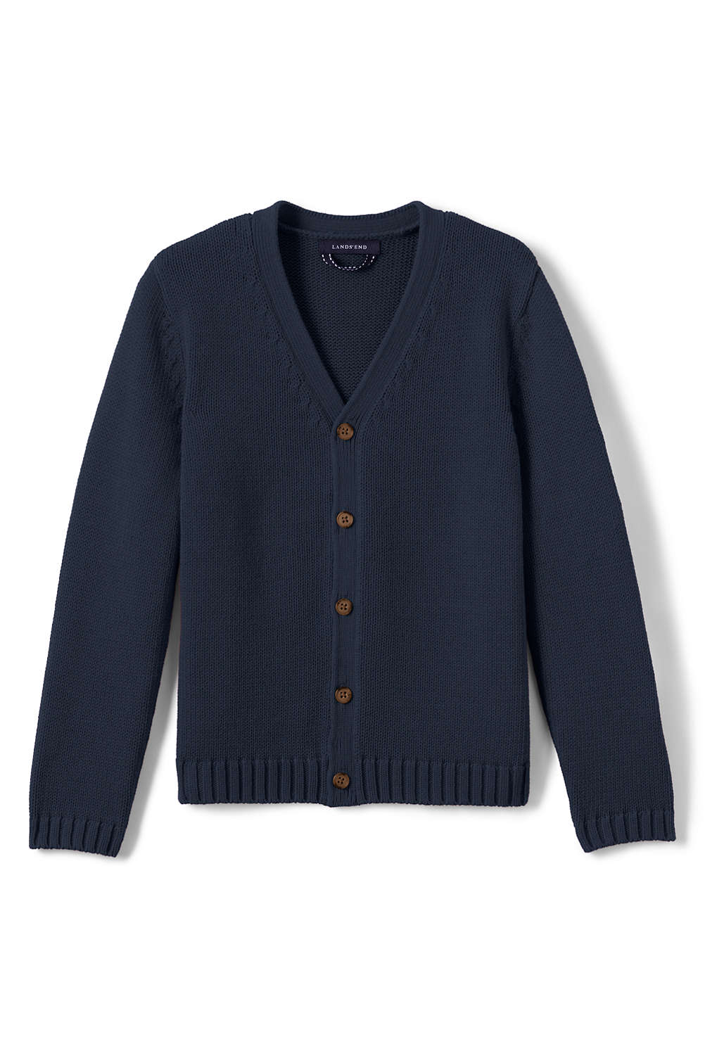 7836f7044 Boys Drifter Button Front Cardigan from Lands  End