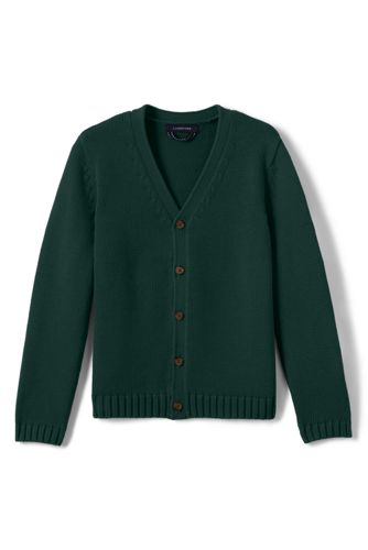 School Uniform Men's Drifter Button Front Cardigan by Lands' End