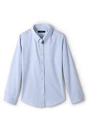 Girls' Long Sleeve No Iron Pinpoint Blouse
