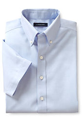 Boys' Short Sleeve Solid No Iron Pinpoint Shirt