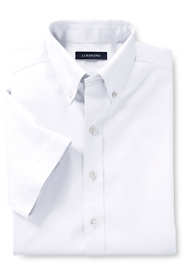 School Uniform Boys Short Sleeve No Iron Pinpoint Dress Shirt