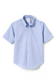School Uniform Little Boys Short Sleeve No Iron Pinpoint Dress Shirt