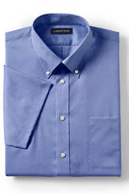School Uniform Men's Short Sleeve No Iron Pinpoint Dress Shirt
