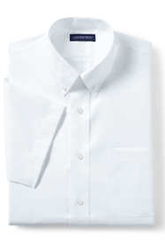 School Uniform Men's Short Sleeve No Iron Pinpoint
