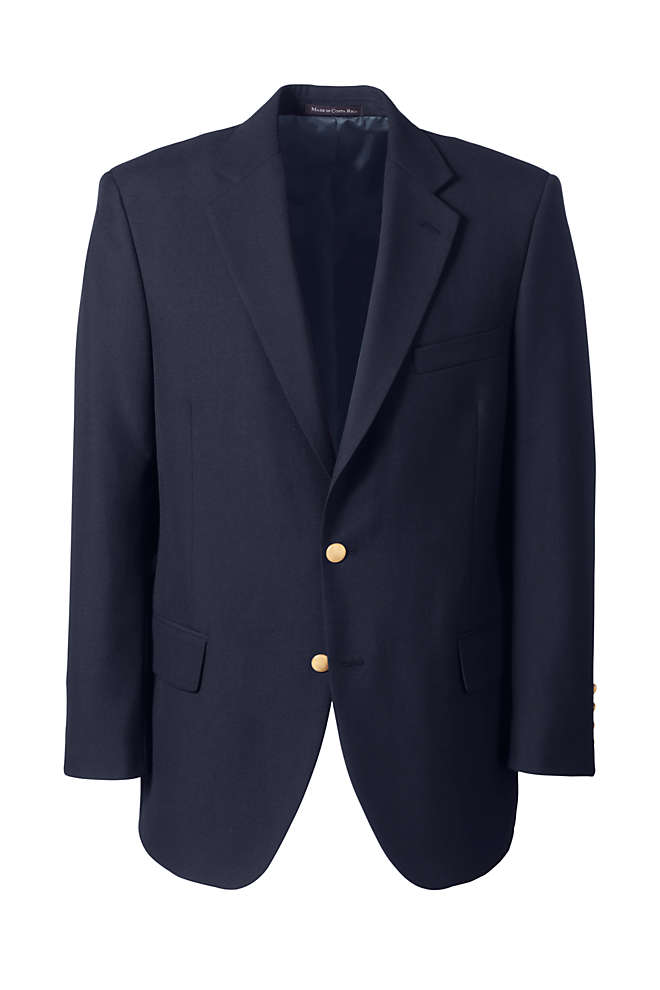 School Uniform Men's Long Hopsack Blazer, Front