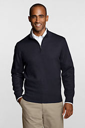 Mens' Big Performance Half Zip Acrylic Mock
