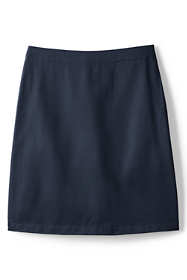 School Uniform Little Girls Slim Blend Chino Skort Top of Knee