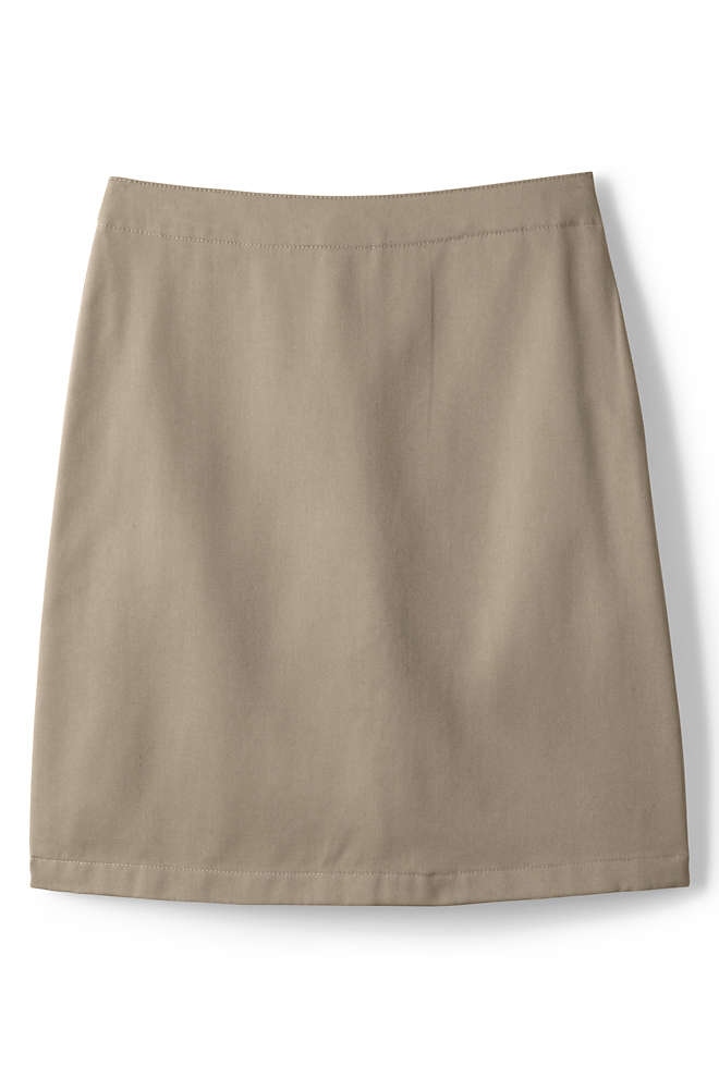 Little Girls Blend Chino Skort Top of Knee, Front