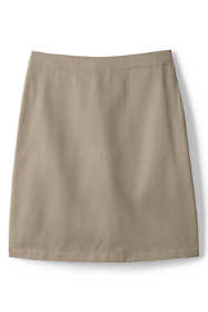 School Uniform Women's Blend Chino Skort Top of Knee