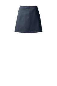 School Uniform Women's Blend Chino Skort Above Knee