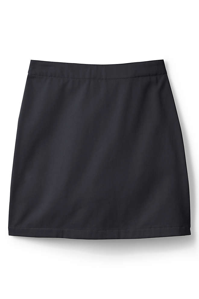 School Uniform Girls Plus Blend Chino Skort Above Knee, Front