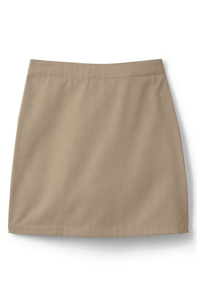 Girls Plus Blend Chino Skort Above Knee, Front