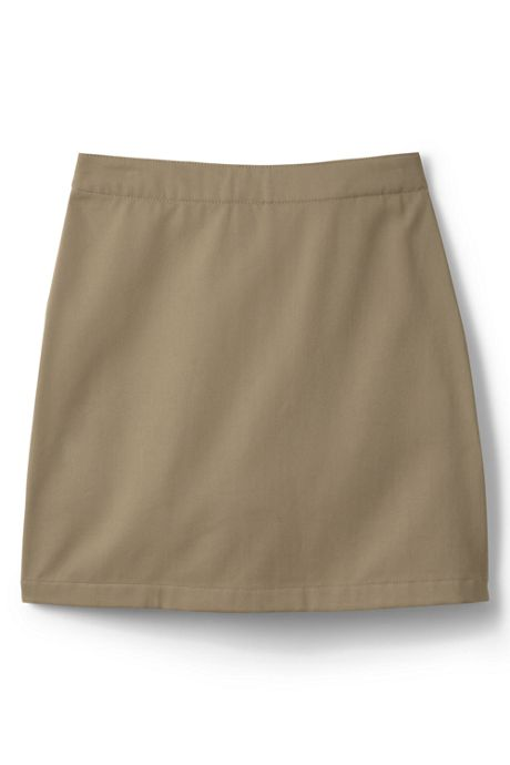 School Uniform Girls Slim Blend Chino Skort Above Knee