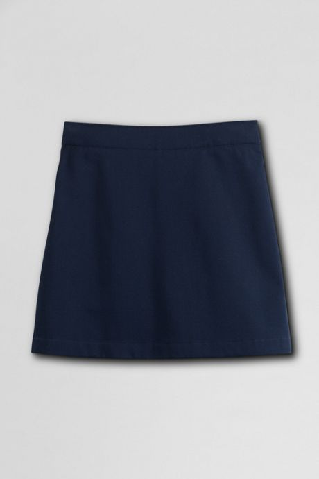 Little Girls Slim Blend Chino Skort Above Knee