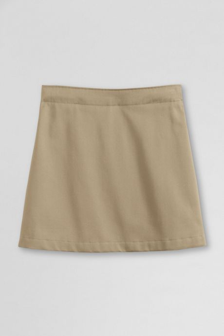 School Uniform Little Girls Blend Chino Skort Above Knee