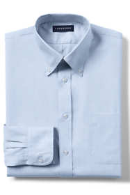 School Uniform Men's Long Sleeve No Iron Pinpoint Dress Shirt