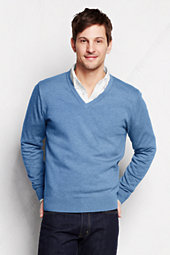 Men's Supima Cotton V-neck Sweater