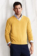 Lands' End Supima Cotton V-neck Sweater