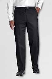 Men's Pre-hemmed Plain Front Traditional Fit No Iron Twill Dress Pants