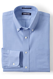 Men's Long Sleeve Tailored Fit  Solid Hyde Park Dress Shirt