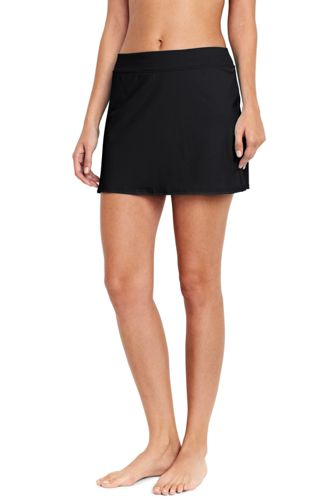 Women's Regular Beach Living Plain SwimMini Skirt with Tummy Control