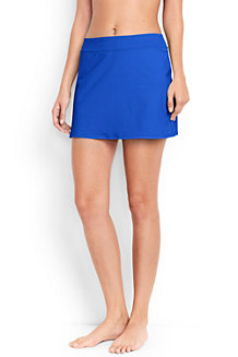 Women's Beach Living Plain SwimMini Skirt with Tummy Control