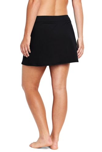 Women's Plus Size Tummy Control Skirt Swim Bottoms