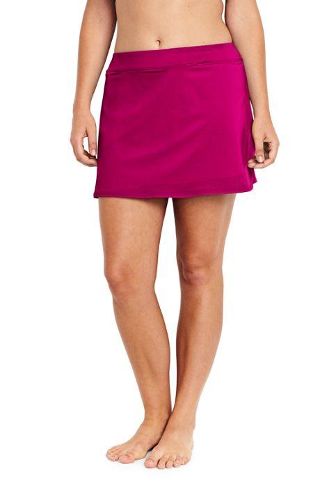 Women's Plus Size SwimMini Swim Skirt with Tummy Control
