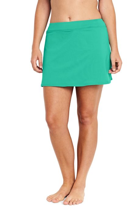 Women's Plus Size SwimMini Swim Skirt with Tummy Control