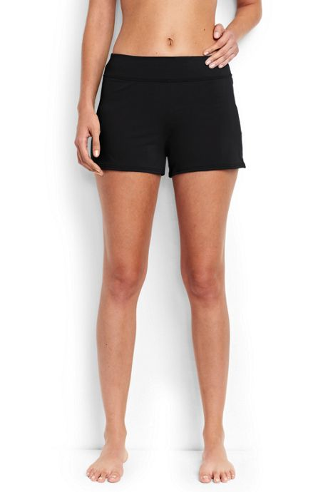 Women's Petite Swim Shorts with Tummy Control