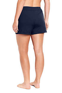 "Women's Plus Size 3"" Tummy Control Modest Swim Shorts, Back"