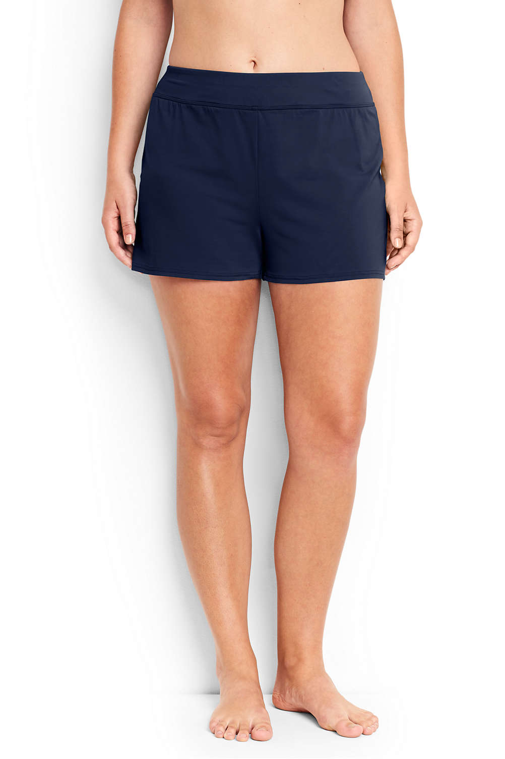 ef78e80e2699b Women s Plus Size Swim Shorts with Tummy Control from Lands  End