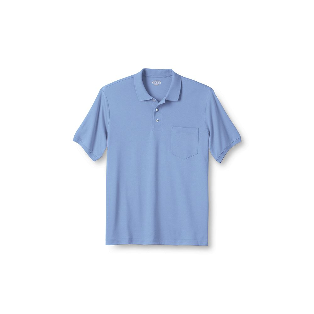 Lands' End Men's Big & Tall Short Sleeve Pocket Pima Polo Shirt