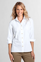 Women's 3/4-sleeve Broadcloth Blouse