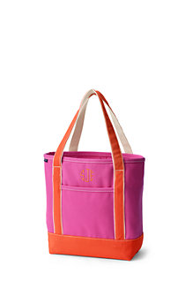 Medium Open Top Coloured Canvas Tote