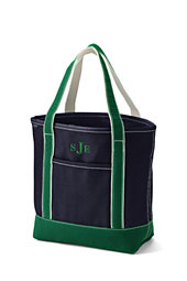Medium Open Top Colored Canvas Tote Bag