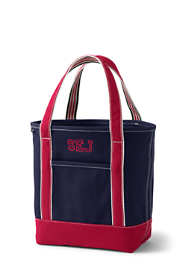 Medium Two-Tone Open Top Canvas Tote Bag