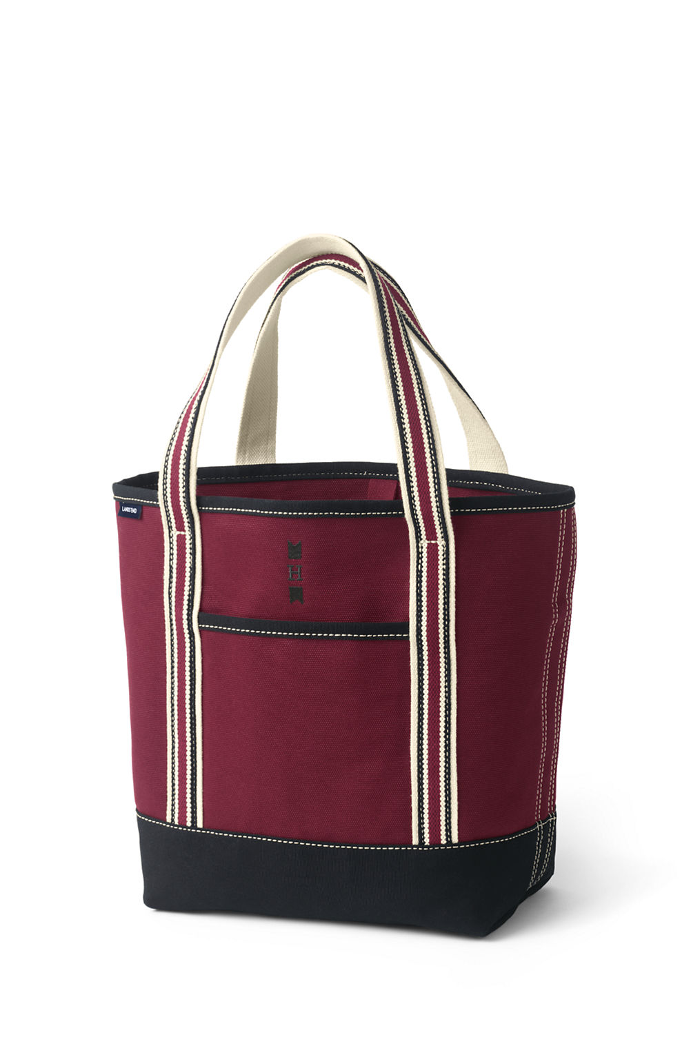 two tone canvas tote bag from lands end