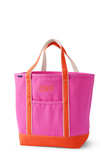 Large Open Top Coloured Canvas Tote