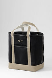 Large Open Top Colored Canvas Tote Bag