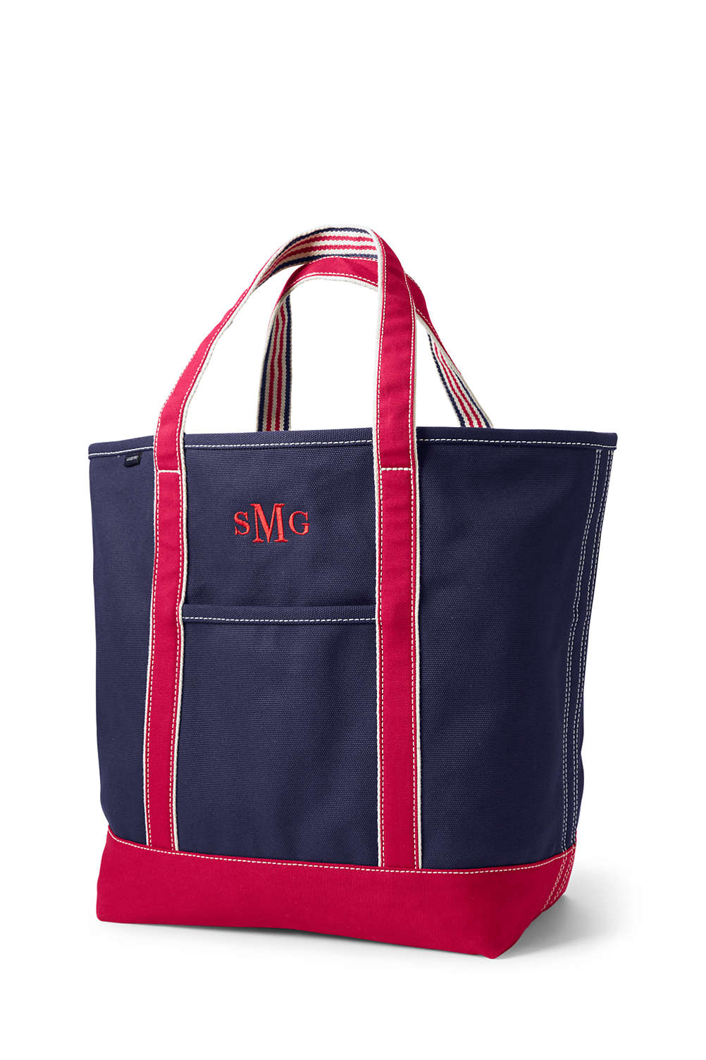 School Uniform Large Two Tone Open Top Canvas Tote Bag