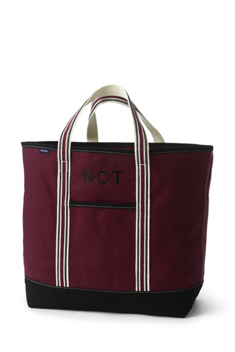 Extra Large Two-Tone Open Top Canvas Tote Bag