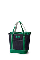 Medium Zip Top Colored Canvas Tote Bag