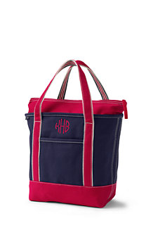 Medium Zip Top Canvas Tote